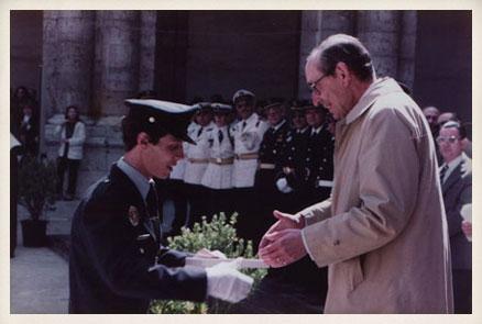 """Promoción """"Miguel Delibes"""" de la Policía Nacional, 1983."""