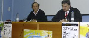 Javier Abad, director del colegio, presentó a Adolfo Delibes