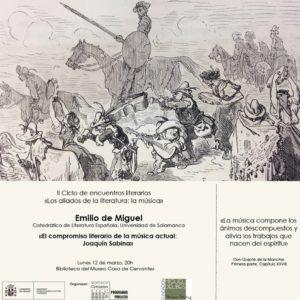 II ciclo de encuentros literarios con Emilio de Miguel